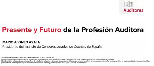 Introducción ponencia Presente y Futuro de la Profesion Auditora.