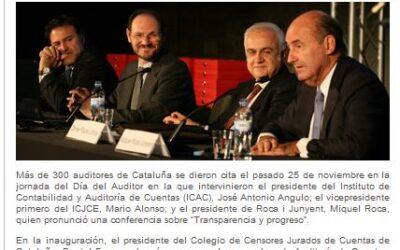 La ley de auditoría centra el día del auditor en Cataluña. (25 noviembre 2010)